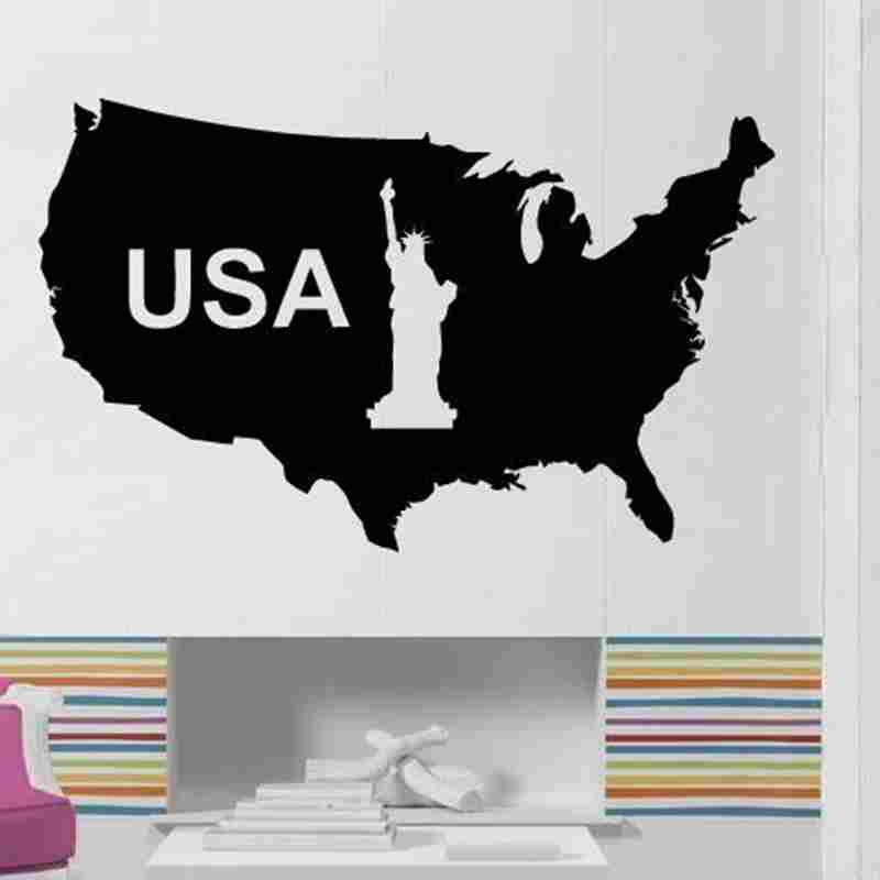 Compare Prices On Usa Map Wall Decal Online ShoppingBuy Low - Us map wall decal