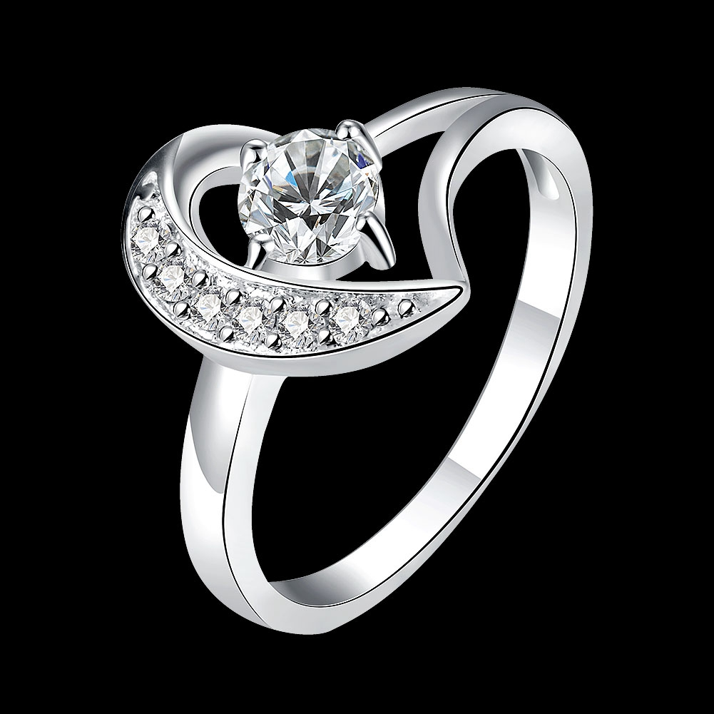 New 925 Sterling Silver Wedding Party Fashion Design Romantic Ring Size 7 &  8 Options Moon