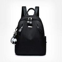 Каждодневные рюкзаки для женщин Водонепроницаемый Оксфорд на заднем сиденье пакет для девочек простая Стиль школьные сумки Молодежные жен...