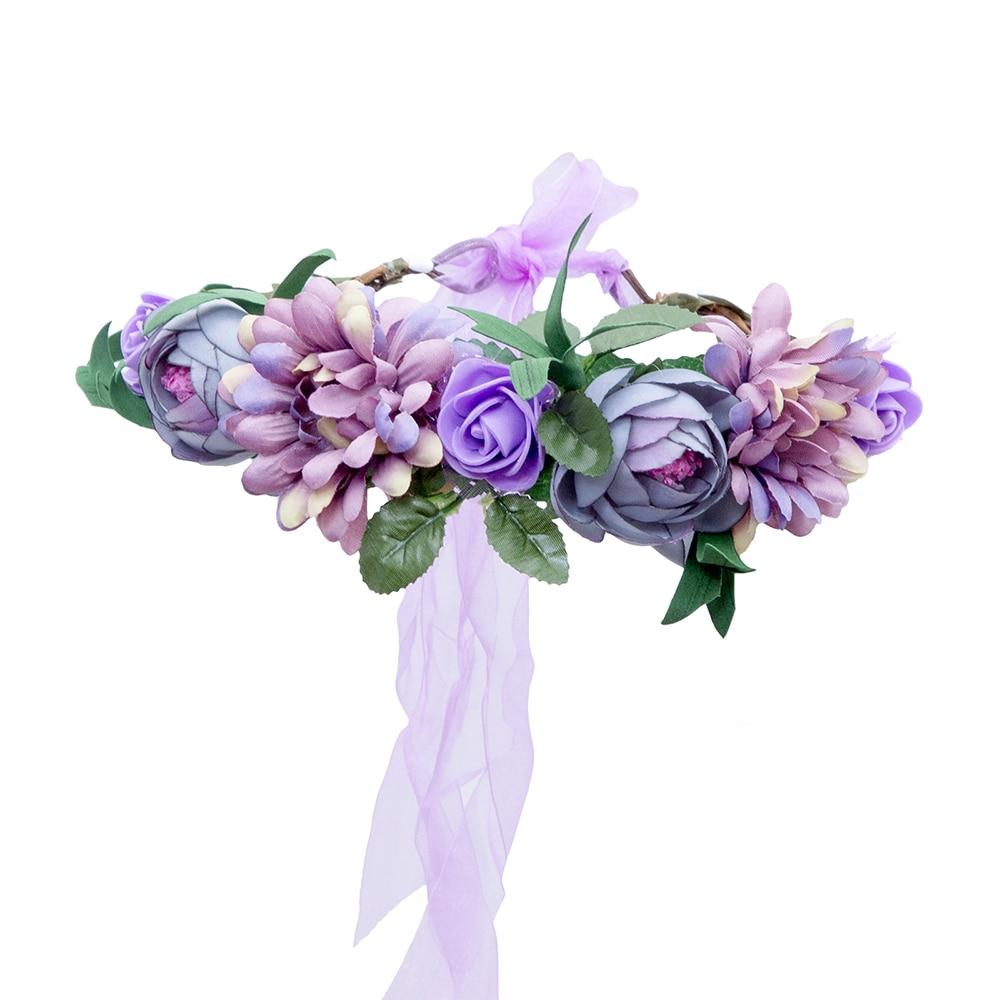 Aliexpress buy bohemian blue rose flower crown headband for aliexpress buy bohemian blue rose flower crown headband for women bridal wedding ribbon adjustable floral wreath headdress hair accessories from izmirmasajfo