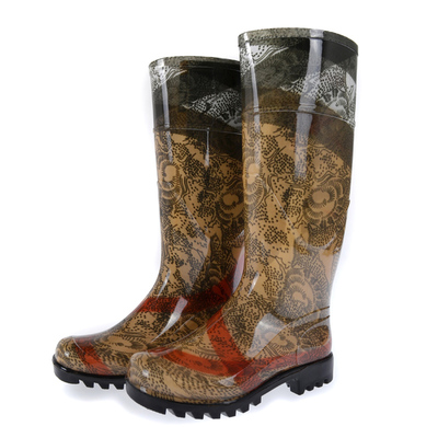 High quality handsome classic women's rain boots thigh highsr boots fashion lace galoshes female rain boots