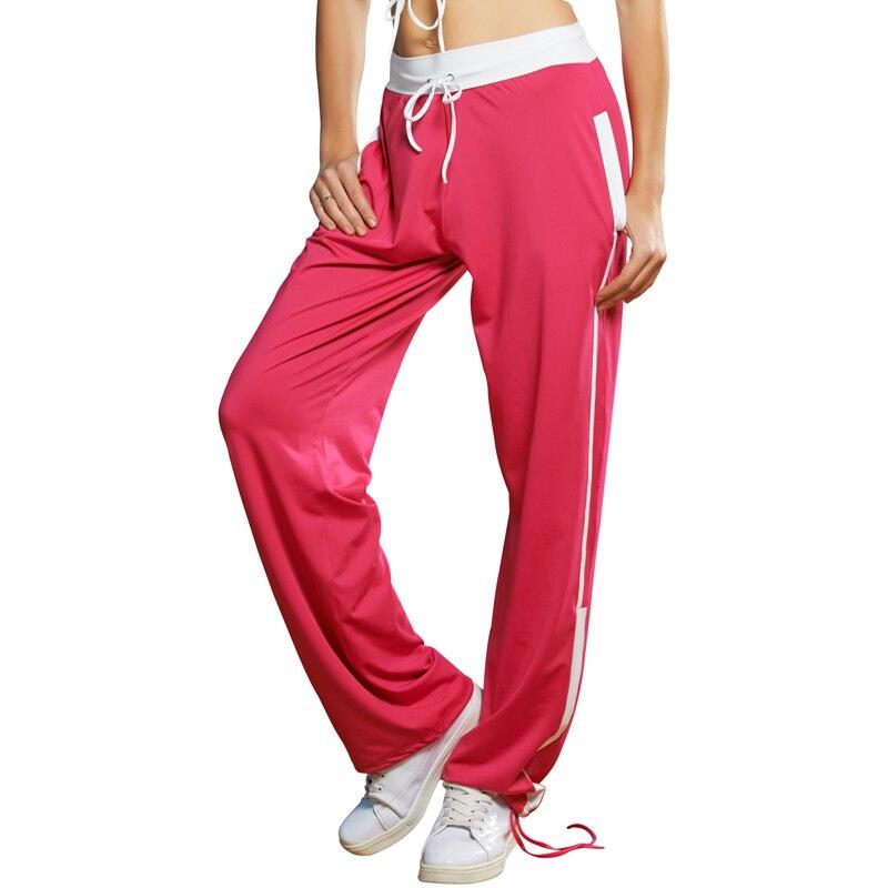 2018 New Autumn Women Loose Sweatpants Trousers Female Fashion Patchwork Color Joggers Pants Hip Hop Dance