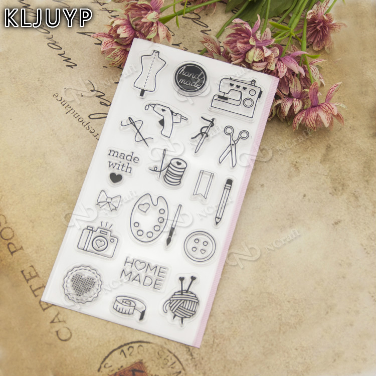 KLJUYP Hand tools Transparent Clear Silicone Stamp/Seal for DIY scrapbooking/photo album Decorative clear stamp sheets lovely animals and ballon design transparent clear silicone stamp for diy scrapbooking photo album clear stamp cl 278