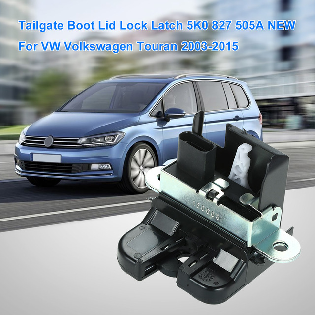 Tailgate Boot Lid Lock Latch 1t0827505h New For Vw Volkswagen Touran