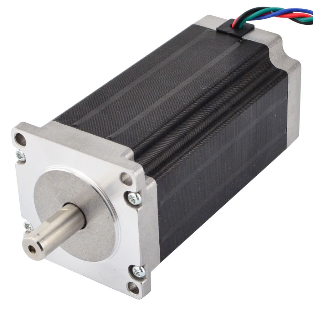 Nema 23 Stepper Motor 113mm 3Nm(425oz.in) 3.5A 4-lead Nema23 Step Motor 10mm Shaft for 3D Printer/CNC Robot/ CNC Milling Machine цена