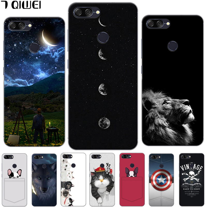 For Asus ZenFone Max Plus M1 Case Silicone Cute Cartoon Case For ASUS ZenFone Max Plus M1 ZB570TL Back Cover Animal Cat 5.7 inch