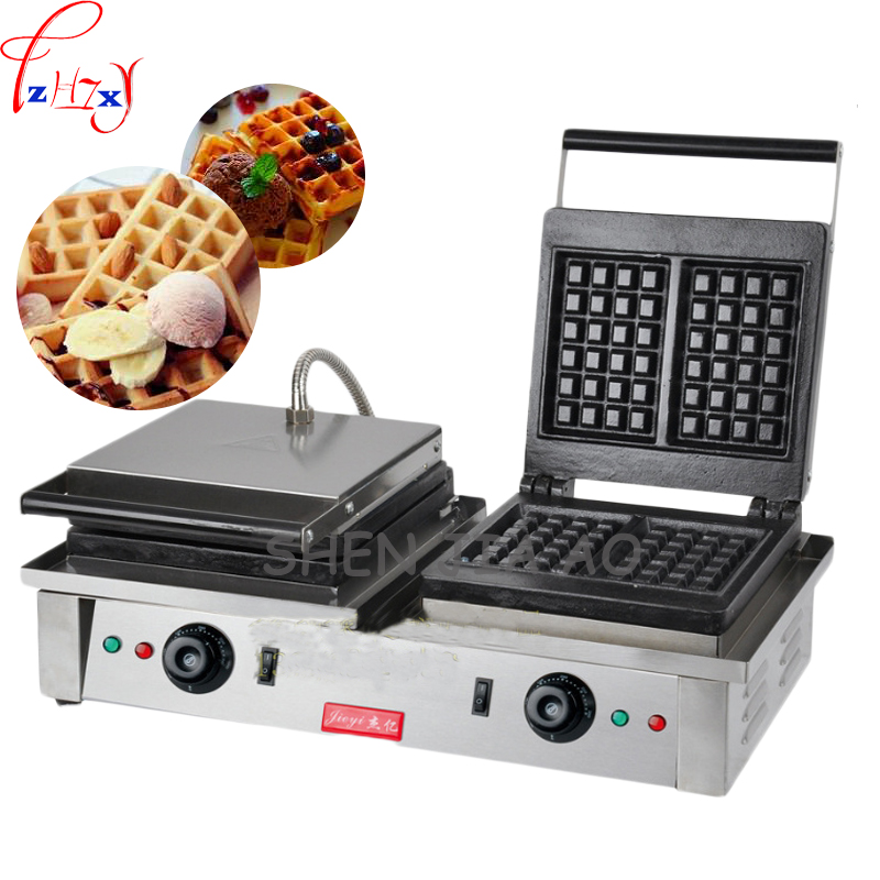 electric waffle wakers stainless steel waffle furnace double-headed square waffle furnace waffle machine 110/220V cukyi household electric multi function cooker 220v stainless steel colorful stew cook steam machine 5 in 1