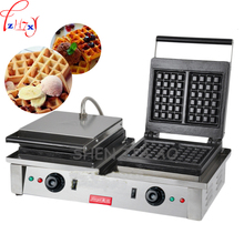 110/220V FY-2202 electric stainless steel waffle furnace double-headed square waffle furnace 2+2 KW double-headed waffle machine