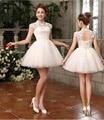 2016 new hot venda Irmãs vestido curto vestido de noite nupcial vestido de noite vestido de princesa sopro saia vestido de baile robe de soirée