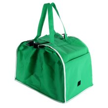 UK Bags Foldable Tote Handbag Reusable Trolley Clip To Cart Grocery Bags(China)