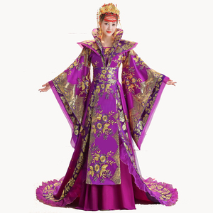 Image 1 - High Quality Designer Chinese ancient Tang dynasty queen Tailing Costume Guzheng Show Clothing Women Hanfu Chinese Photography