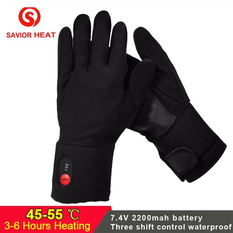 SALVATORE Inverno Caldo elettrico Guanti riscaldati Batteria Ricaricabile per lo sci pesca equitazione caccia tenere le mani al caldo delle donne degli uomini