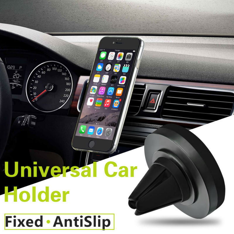 Galleria fotografica TIQUS Car Phone Holder 360 Rotating Air Vent Mount Mobile GPS Holders & Stands For iPhone 7 Samsung Galaxy S7 Edge For Huawei