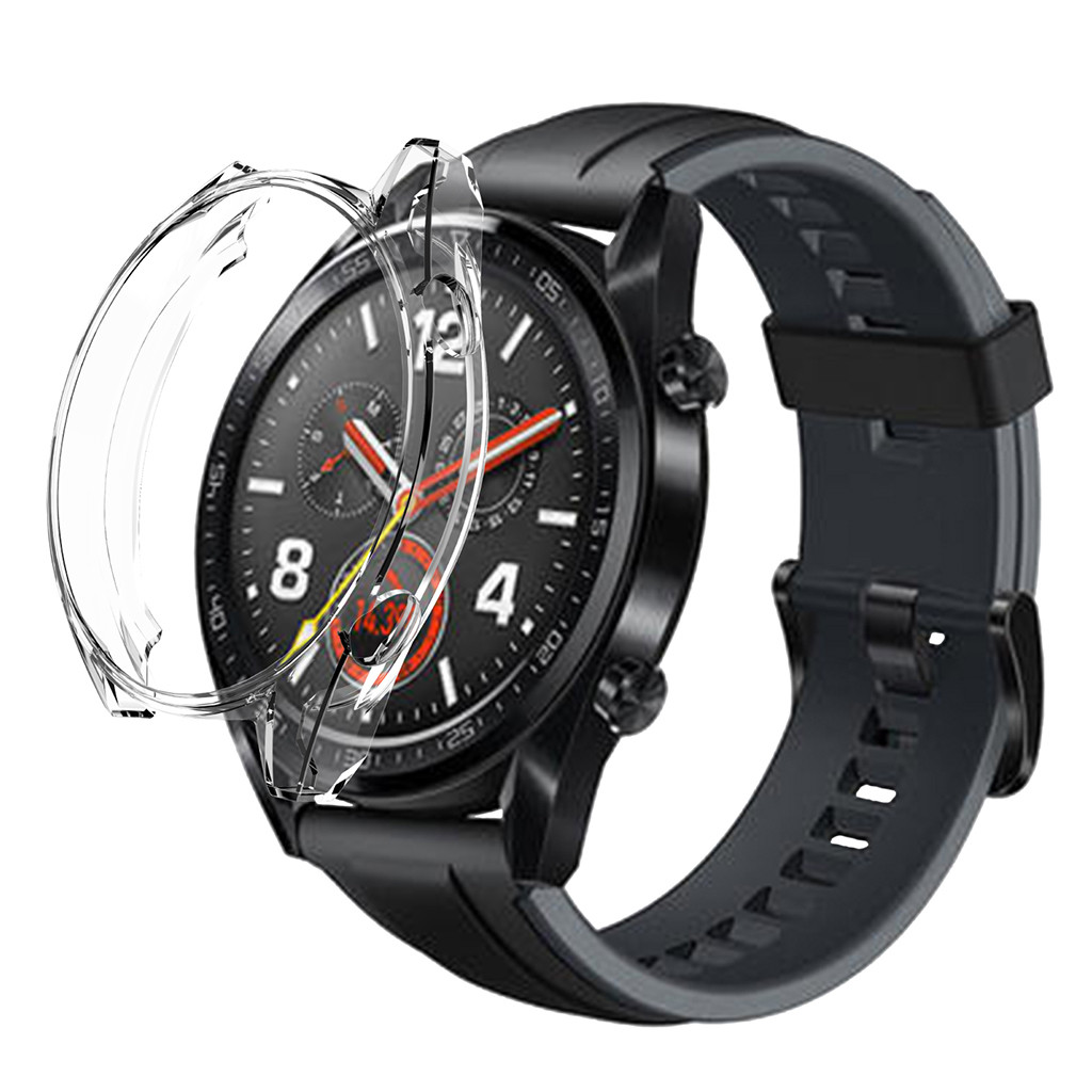 Shellcase-Cover Huawei Watch Silicone-Frame Soft-Tpu-Protection GT for Fashion Ultra-Thin