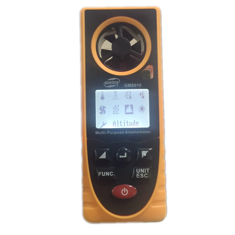 Portable Digital Multi purpose Anemometer Barometric Humidity Altitude Temperature Dew Point Wind Chill Speed Meter GM8910
