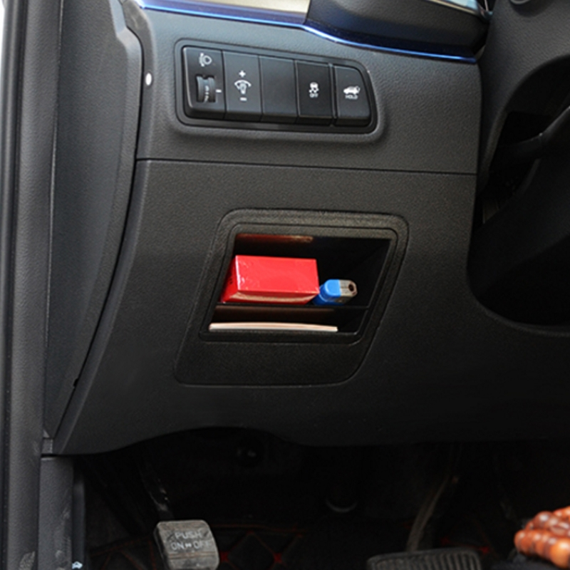 Hot New 1 Pc Auto Car Inner Fuse Storage Box Bin <font><b>Case</b></font> Card Slot Holder <font><b>For</b></font> <font><b>Hyundai</b></font> <font><b>Tucson</b></font> 2016 <font><b>2019</b></font> image