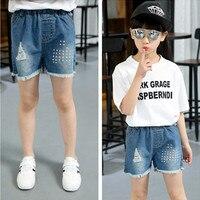 Summer Girl Cowboy Shorts Hot Holes Cowboy Tight Children's Garment Cowboy Kids Shorts