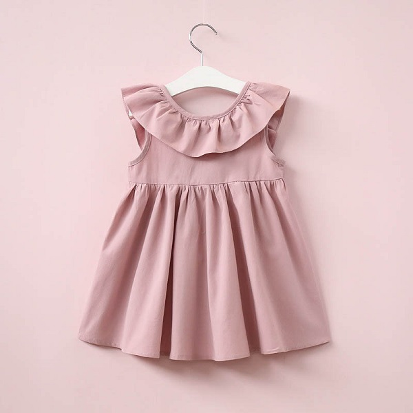 O-Neck Solid Lace Childrens Clothing Dress Flower Girls Dress Princess Summer Kids Dresses For Baby Girls Clothes 1 2 3 4 5 Yrs 5