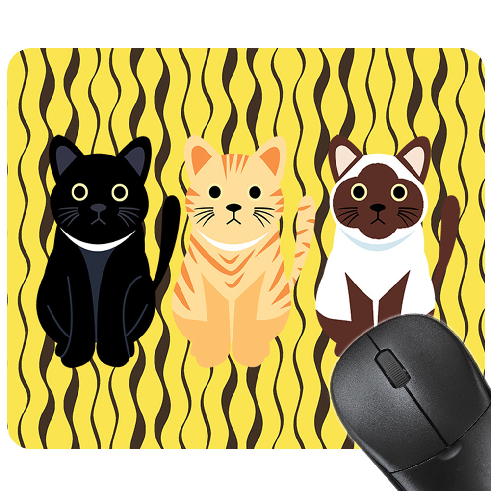Anti-Slip PC Cute Cartoon Anime Cat Gaming Mouse Pad New Rubber Non-Skid Rubber Pad for Laptop Computer Tapete