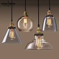 Europe and the United States and the country to the ancient style of the industrial wind lamp coffee shop glass hood