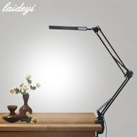 LAIDEYI Desk Lamp Clip Office Led Desk Lamp Flexible Led Table Lamp Reading Led Light Free Dimming Brightness