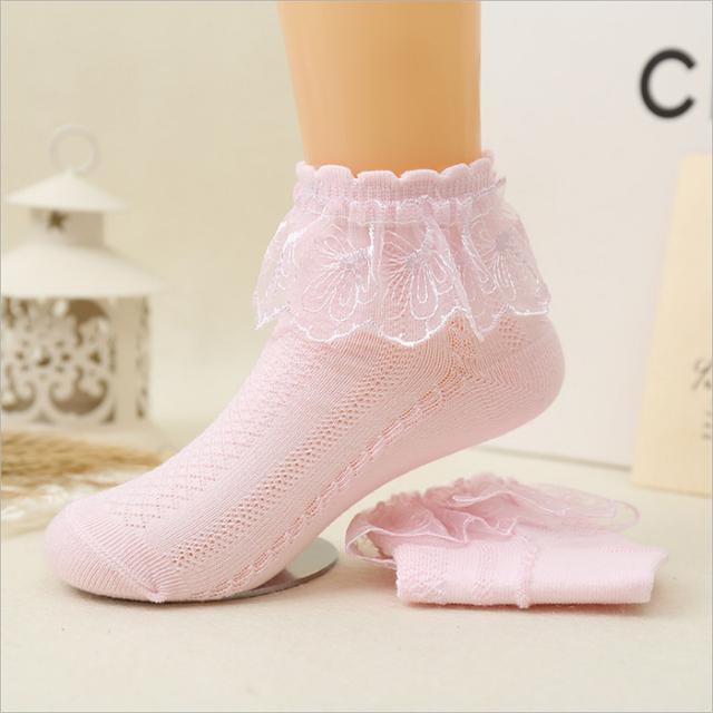 Lace Ruffle Ankle Socks