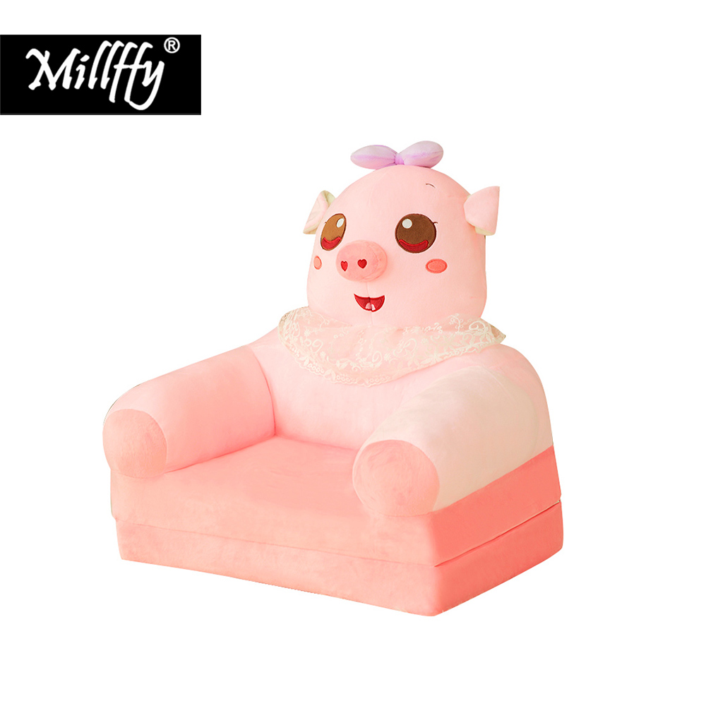 Dropshipping New Design Peluches Stuffed Animal Plush Toy Armchair Soft Pig Elephant Sofa Chair for Kids