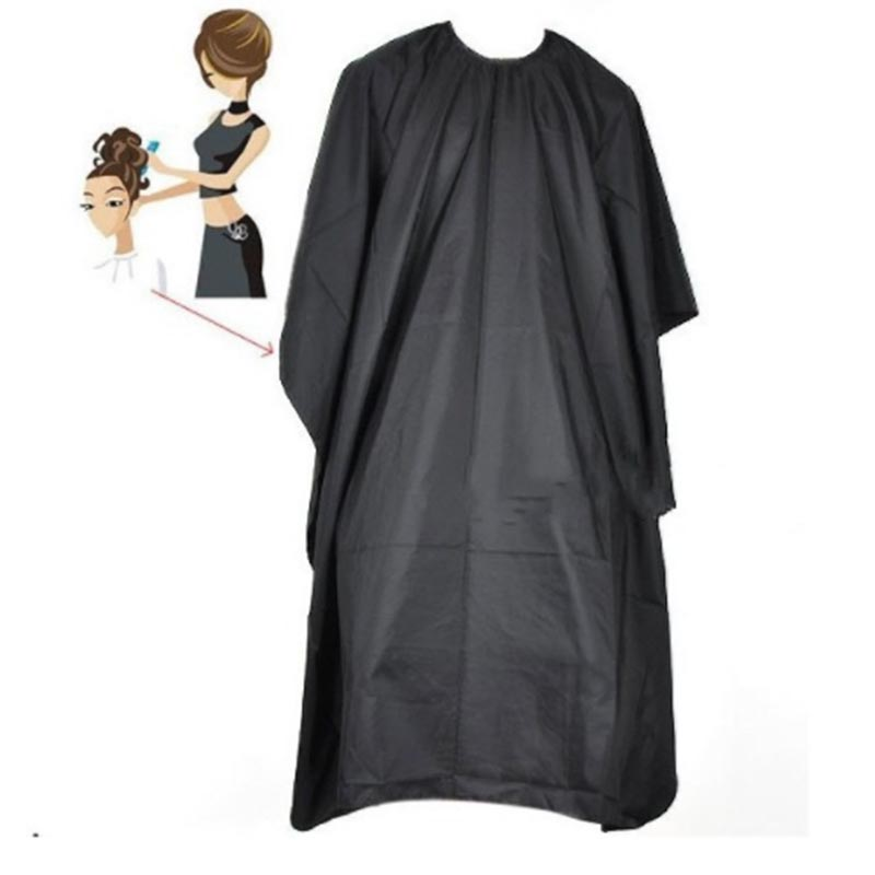 Barbers Hairdresser Wrap Hair Cutting Hairdressing Large Salon Adult Waterproof Cape Gown Black Hairdresser Cape Gown Wrap