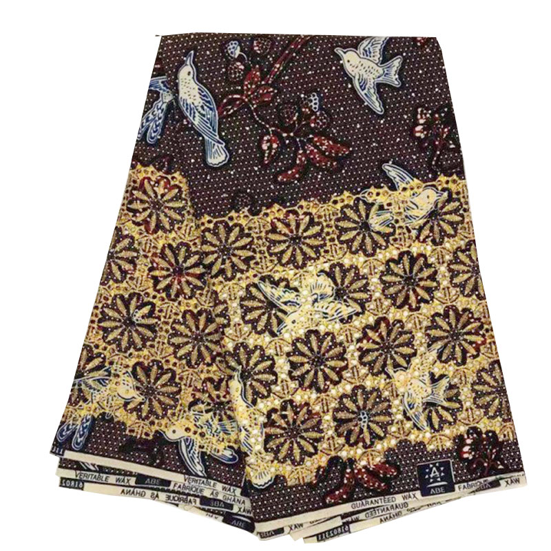 High End African Super JAVA Wax Fabric For Dress Party, Africa Cord Wax Ankara Nigerian Wedding Aso Oke Real Dutch Wax Fabrics