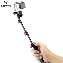 Купить с кэшбэком SnowHu CNC aluminum 3 Way Waterproof Monopod Selfie Grip Tripod Mount For Gopro Hero 7 6 Xiaomi Yi 4K Sport Action Camera GP160