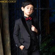 цена на Boys Suits for Weddings Velvet Costume Enfant Garcon Mariage Suit for Boy Kids Wedding Suit Blazer Boys Prom Suits 5 Pcs/set