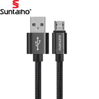Suntaiho Micro usb cable 0.25m 1m 2m 3m Fast Charger & Data Cable Nylon Braide Mobile Phone USB Charger For Samsung HTC Huawei