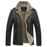 New Top Quality Leather Jacket Mens Leather Jacket And Coat Smart Casual Jacket Jaqueta De Couro Masculina