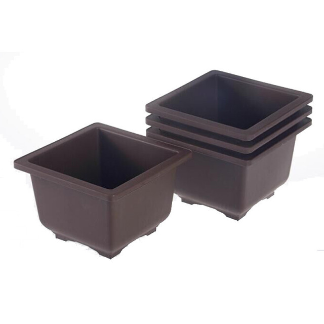 Flower Pot Balcony Square Flower Bonsai Bowl Nursery Basin pots Planter Imitation Plastic Rectangle Flower Pots