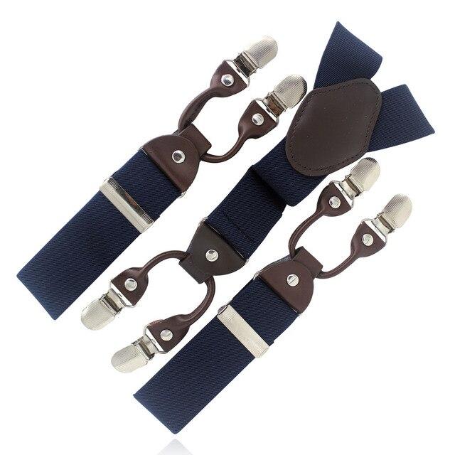 7 farben Mann hosenträger leder herren hosenträger 6 clips elastic ...