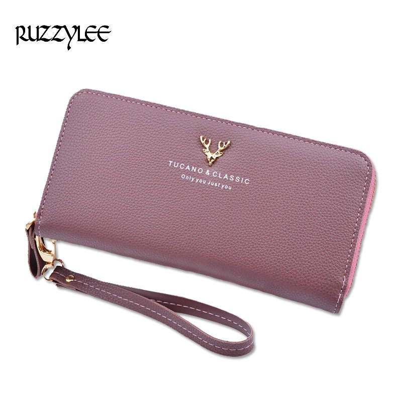 2017 New Brand  Women Wallet  Long  Ladies Coin Purse Female Leather Wallets Zipper Woman Purse Card Holder Portefeuille femme dollar price women cute cat small wallet zipper wallet brand designed pu leather women coin purse female wallet card holder