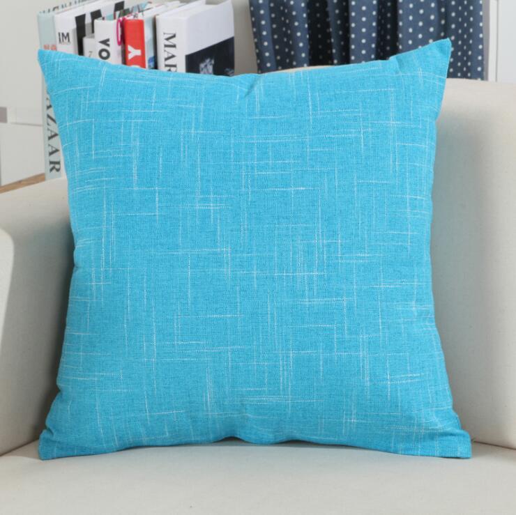 Fyjafon 2pcs Pillowcase Cotton Linen Pillowcases Decorative Pillows Pillow Cover Home Decor 45x45 50x50 60x60