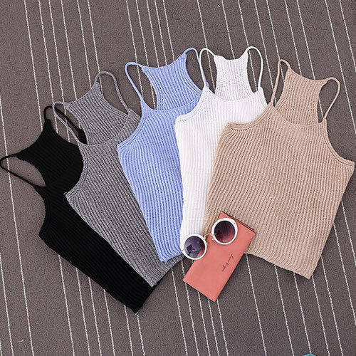 New Fashion Sexy Sleeveless Top Women Fashion Summer Blouse Vest Cotton Casual Short Tank Tops