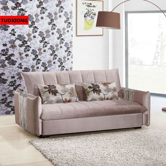 Living Room Sofa Furniture Fabric Divan Home Settee Functional Bed Studio Couch Leisure Modern Chair
