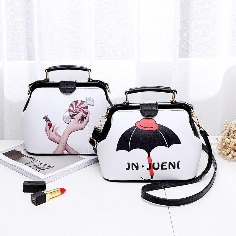 2017 Women Personality Fashion Buckle Small square bag Designer Handbag Casual Shoulder Messenger Bag New Sac Femme 3