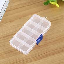 10 Cells Plastic Storage Box For DIY Handwork Sewing Jewelry Beads Buttons Accessories Tools Home Storage Boxes Crafts Organizer