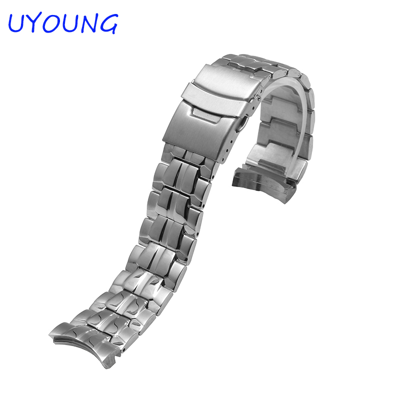 New Hot For Casio EF-550 High Quality Stainless Steel Watchband 22mm Watch Strap For Casio Bracelet Strap Bracelet