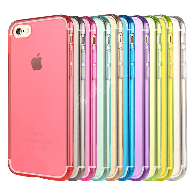 Gel transparente silicone caso para iphone 11 pro max xr xs x + 6 s 7 8 plus 5 5S se magro anti-knock à prova de choque casos de volta coque