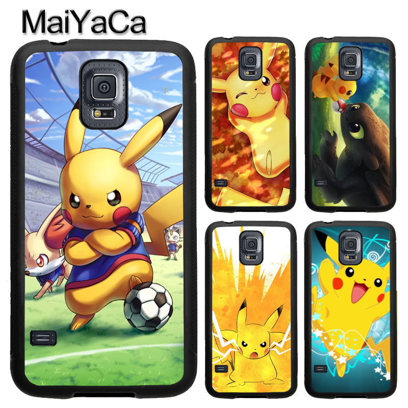 MaiYaCa Anime Pikachus Pokemons TPU Phone Case For Samsung Galaxy S4 S5 S6 S7 edge S8 S9 Plus Note 8 5 4 Full Back Cover