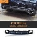 Style rear bumper lip difusor para audi a6 rs6 a6 paragolpes de serie 2013 2014 2015 (no para Sline S6) de fibra de carbono fake