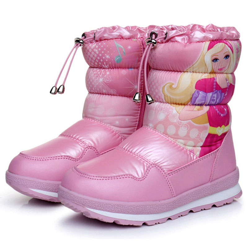 Girls boots 2018 new arrivals warm plush winter shoes fashion elastic band children snow boots platform non-slip kids boots стоимость