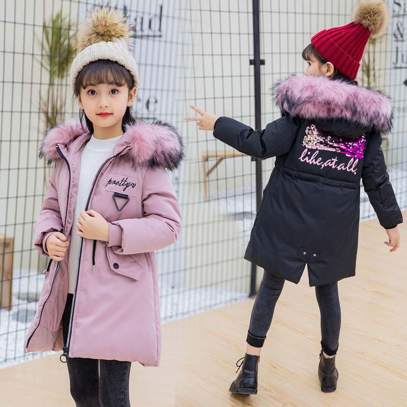 Fashion Children kids cotton Jacket Winter Jacket For Girls Thick Down Kids Outerwears For Girl clothing parka Warm Coat casaco 2018 girls winter coat warm jacket fashion hooeded jeans outerwear children clothing kids cotton parka coats
