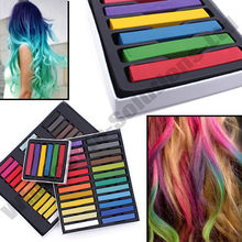 6/12/24/36Hair Color Chalk Dye Soft Pastels Stick Crayons for The Hair Color Easy Temporary Coloured Salon Kit DIY Styling Tools