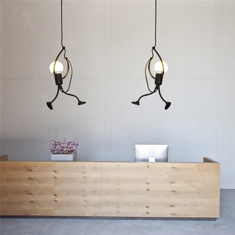 Modern Charming Hanging Chandelier Creative Iron People Lamp Elegant Hanger  (1)