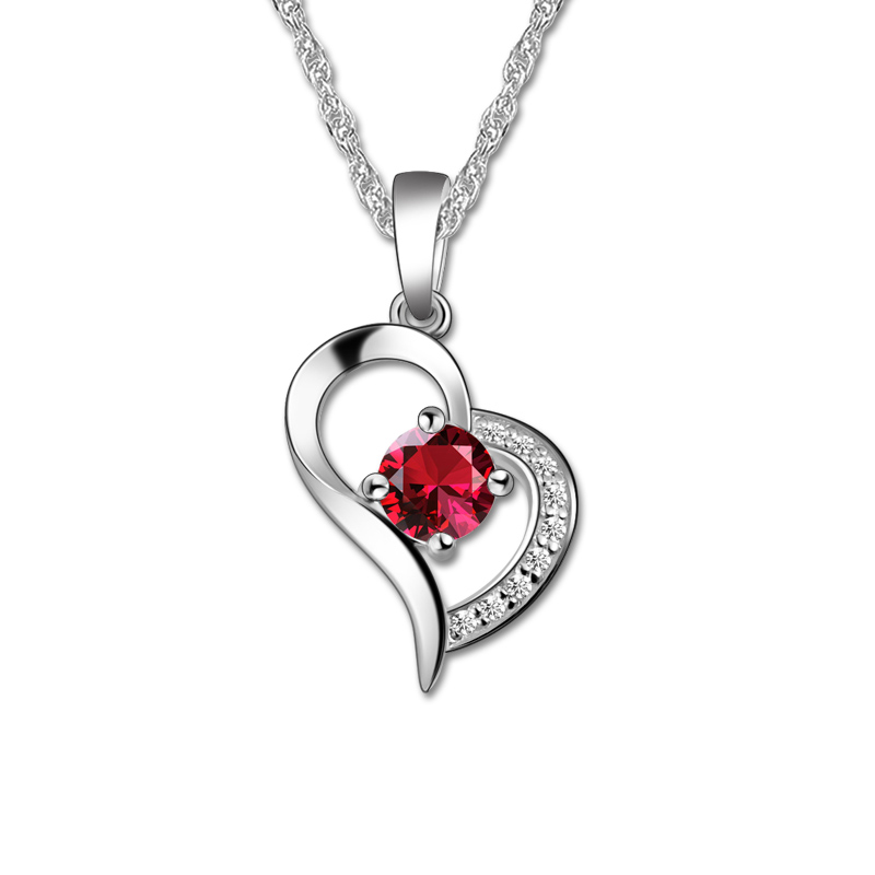 ailin personalized love heart necklace white gold color. Black Bedroom Furniture Sets. Home Design Ideas